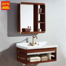 Professional safety vanity top modern bathroom cabinet with ceramic basin good quality