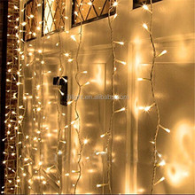 Warm White 600 LED Fairy String Curtains Light Low Voltage UL Plug-in Waterproof 6M Christmas wedding decorative curtain light