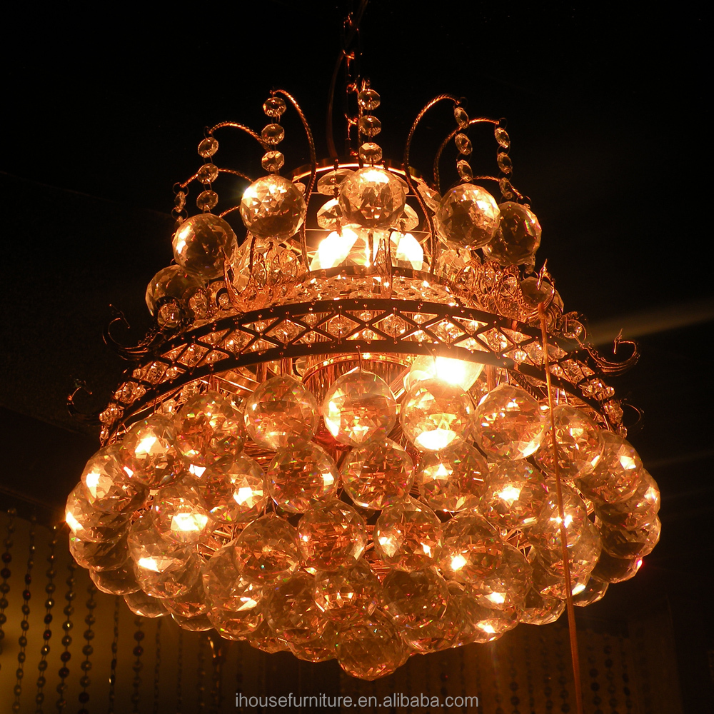 Guangdong Traditional Decorative Crystal Glass Ball Chandelier Pendant Light For Restaurants