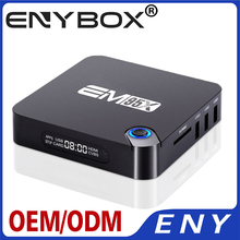 Лучший Android 6.0 EM95X tv box media player Amlogic S905X Quad Core 2.0 4 К 2 К wifi 2.4 ГГц 2 Г RAM16G ROM smart tv коробка