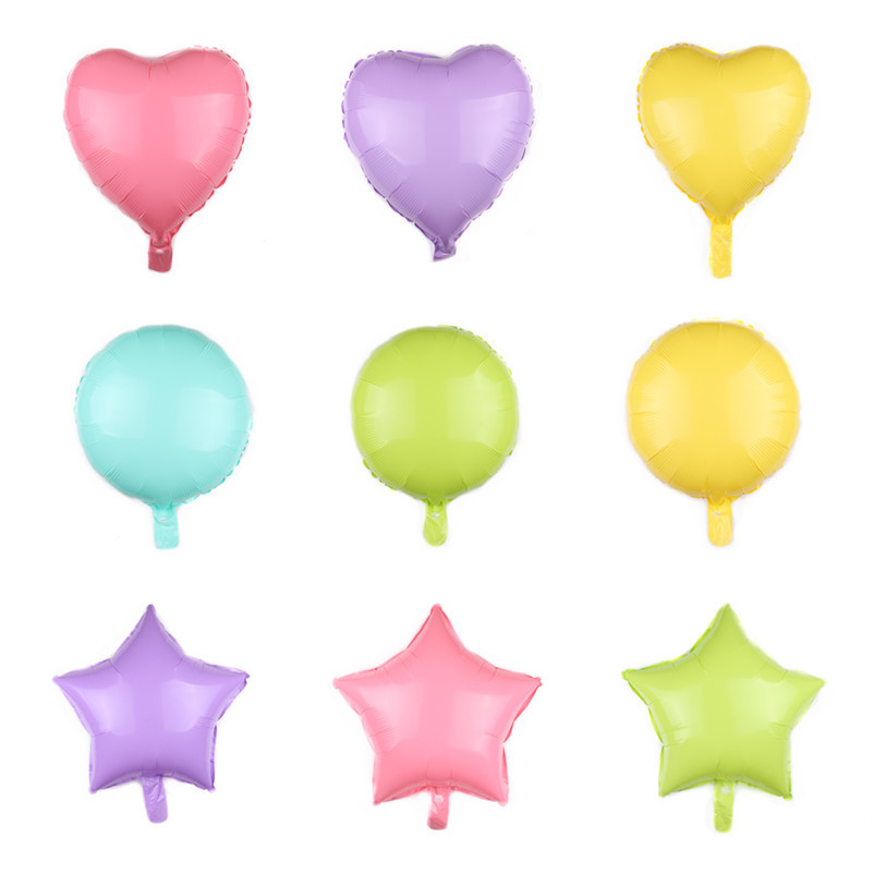 New Design EN71 Custom 18 Inch Macron Foil heart Shaped Foil Balloons for Wedding Valentine's Day Hen Party Decoration