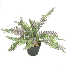 High Simulation Artificial Persian Leaves Plants Purple Real Leaves Vein Bonsai For Office Decoration