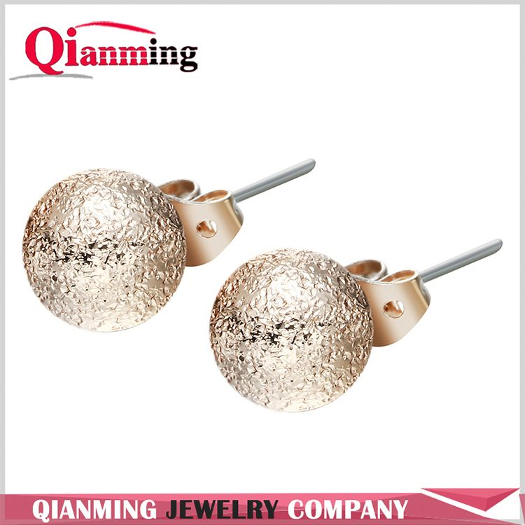 Classic Round Ball Stud Earrings with Matching Backings In Gold and Silver Color Nickel-free, Lead-free