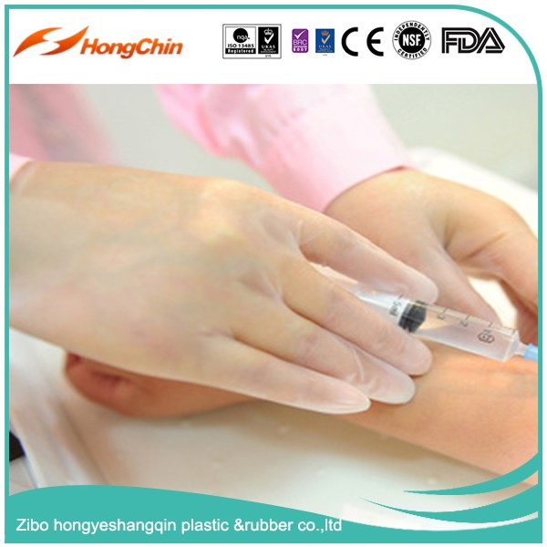 general use lightly powdered disposable vinyl gloves in food industry with CE