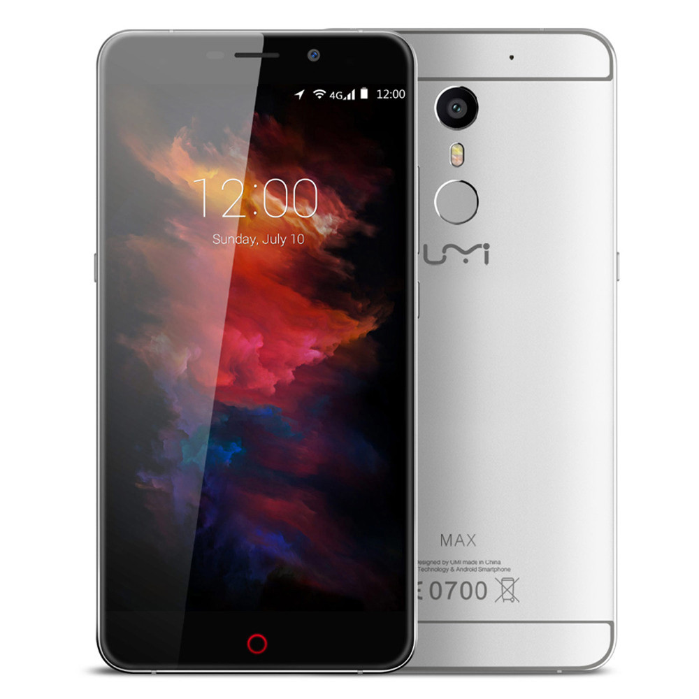 UMI MAX Smartphone 4G Octa Core 5.5 Inches Android 6.0 3GB RAM 16GB ROM 5MP Front 13MP Dual Cameras Mobile phone Cellphone