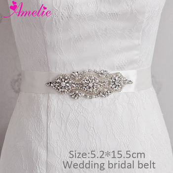 Wedding Dress Sash Belt Rhinestones Bridal Bridesmaid Belt Bling Crystal Waistband Pearl Women Girdle Prom Party Decor Belt Sash