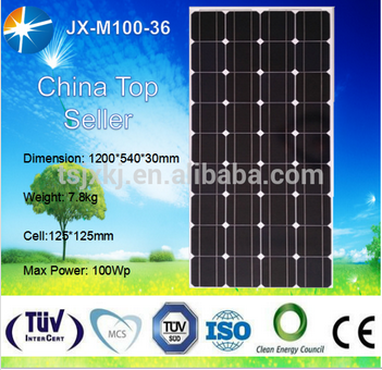 solar panel 100 watt and 100w monocrystalline solar panel for sale good price