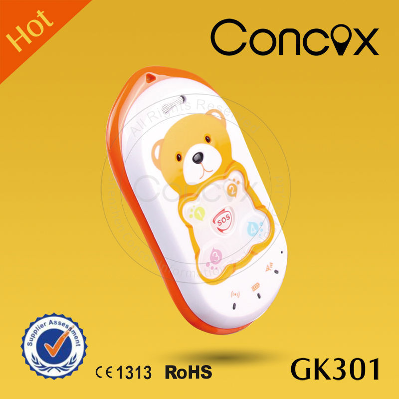 Concox 1 Year Warranty Big Key GPS Baby Bear Phone GK301 with Anti-assembly Design Long life battery mobile phone