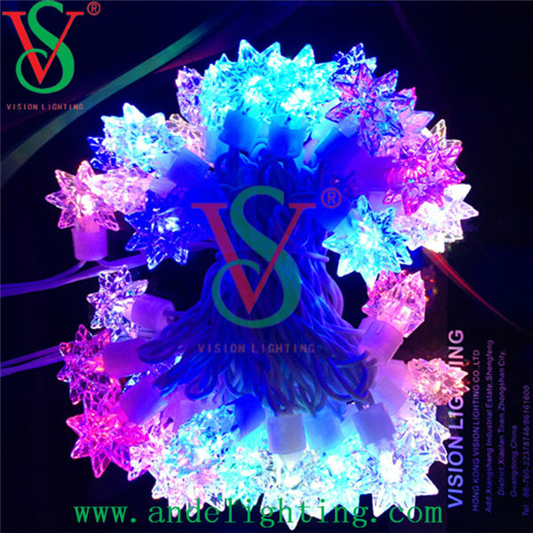 RGB high quality fairy outdoor waterproof IP65 LED star string light