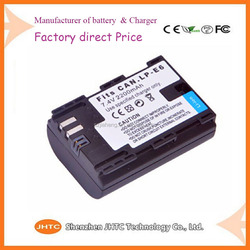 Cheapest Price High Quality Wholesale Camera Battery LP-E6 battery for Canon 5D mark III 5D Mark II 7D 60D 6D