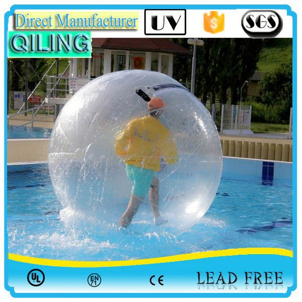 QL Promotional transparent TPU transparent handle water ball for kids