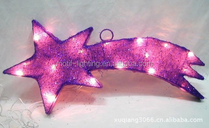Christmas decoration lighted shooting star
