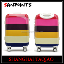 Teenage abs suitcase pc case peach color pc luggage