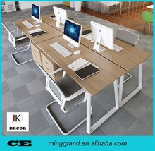 Latest design freestanding office desk furniture with returned desk