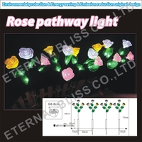taiwan outdoor artificial flower garden lighting
