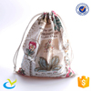 Cotton drawstring bags with your logo for handbag/shoe/gift