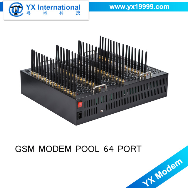 2017 Cheap gsm modems send and receive sms online 64port