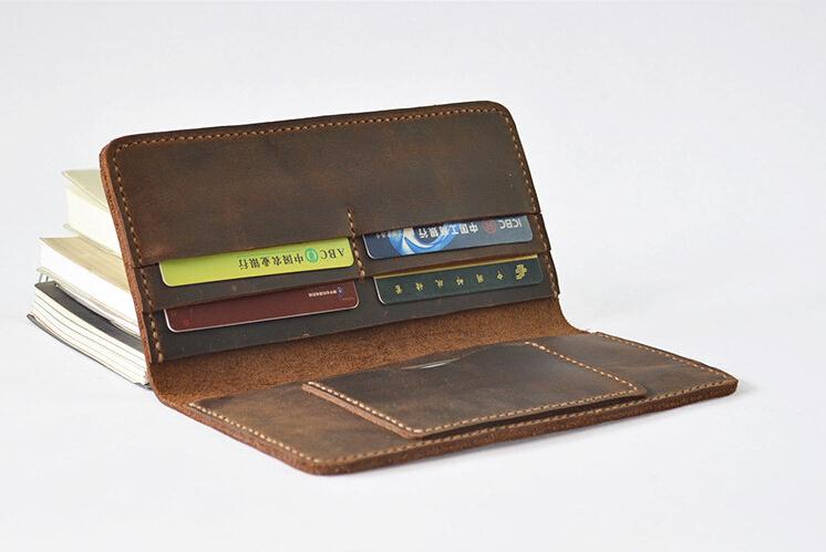 Boshiho leisure style vintage man's leather wallets
