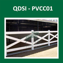 High Quality PVC plastic cross rail horse fence