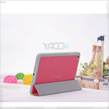 Newest case.Four folding basketball pattern smart cover leather case for iPad Mini P-iPDMINICASE038