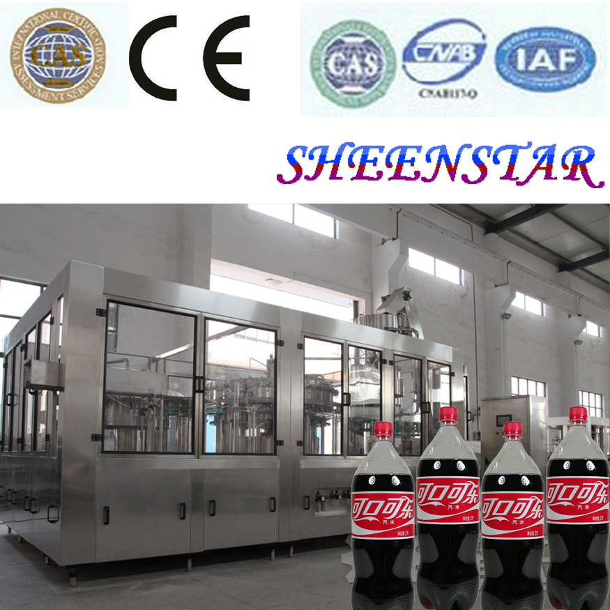 DCGF16-12-6 3-in-1 Automatic Soda Drinks / Gas Water Production Line / Plant