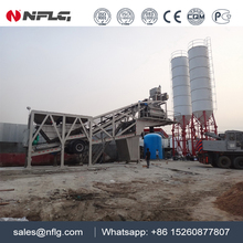 High quality easy investment portable concrete batch plant is on sale