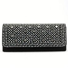 Black and New Trend Crystal Evening Bag for women