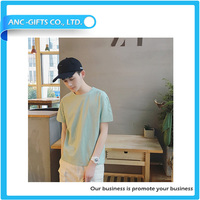 hot promotion free sample plain organic cotton t-shirts wholesale clothing xxl six film blue t-shirt