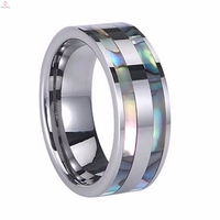 New Arrival Fashion Trading Personalized Tungsten Silver Ring for Men