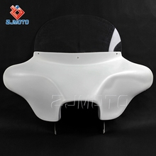 Newest ZJMOTO High Quality Motorcycle White Front Batwing Fairing For Harley Davidson Road King 94 UP