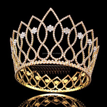 Top grade unique design full round silver bridal pageant <strong>crowns</strong> and tiaras
