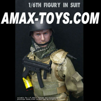"AF-B01 Action figure 12"" Action figure in suit military model toy"