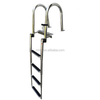 High quality Telescopic and foldable stainless steel boat ladder marine ladder pool ladder
