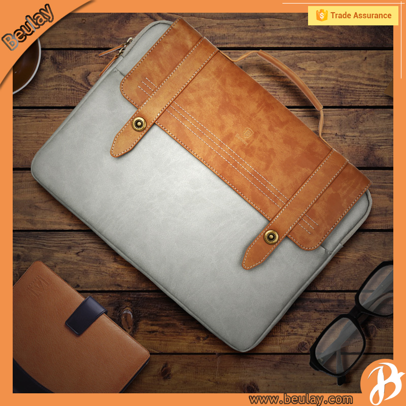 New Design 14 inch Leather Laptop Hand Bag For Apple Macbook Pro