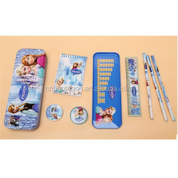 China supplier personalized metal pencil box with compartments stationary wholesale