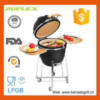 New Product! Auplex Charcoal Kamado Barbecue Red Stone Grill