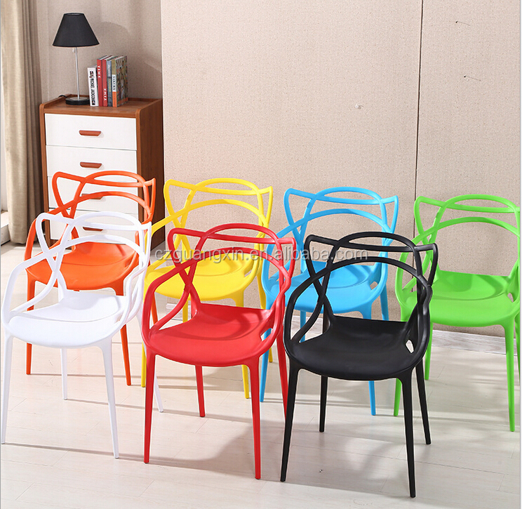 Simple style Minimalist Vine hollow plastic chairs, food stall outdoor plastic restaurant chair
