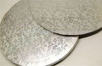 Paper Cake Board/ Cake Drums -- Silver cake board
