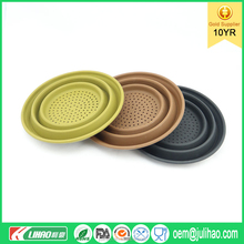 Trade Assurance Supplier Collapsible Silicone Pot Strainer Stainless Steel Colander