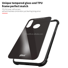 VMAX Wholesale 360 degree full cover Anti drop shockproof TPU phone case with tempered glass backboard for iPhone X/8+/8