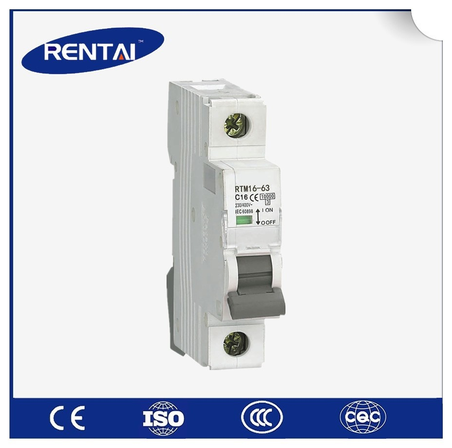 popular high quality 10KA MCB AC DC type 3 phase brand 4 pole c63 miniature circuit breaker UL approvl