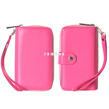 New Smartphone Flip Bag Pouch Cover Fashion Zipper leather with Card Slot for iphone 4 4s