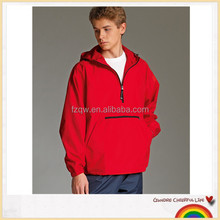 Best-selling foldable design college waterproof pull over jacket