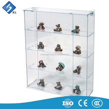 Four Tier Clear Acrylic Souvenir Display Shelves / Toy Storage Display Racks from China