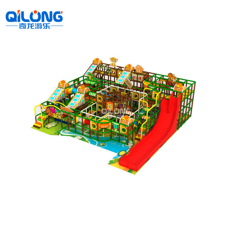Manufacturer Supply Jungle Theme Four Levels Indoor Playground