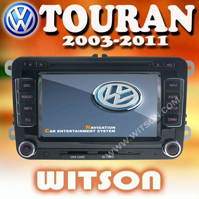 WITSON VW TOURAN 2003-2010 AUTOMOBILE DVD PLAYER with USB port and iPod ready