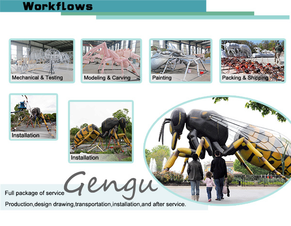 Large Outdoor Insect Sculptures Realistic Animatronic Insects