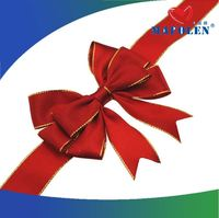 Gift package accessories decoration poyester satin ribbon bow for sale