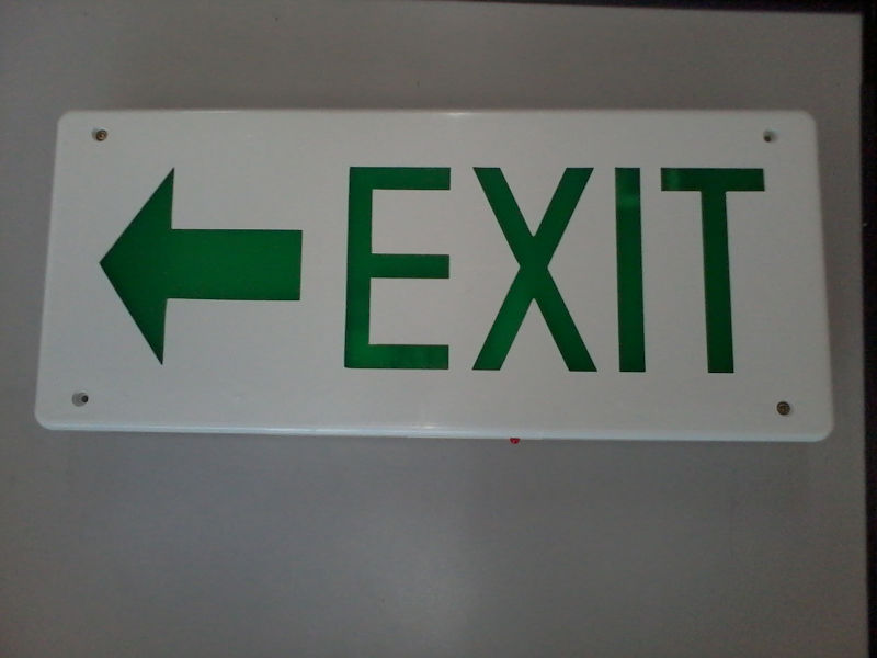 Box Type LED EXIT Sign Single Face - Arrow Left