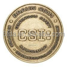 Imitation old Antique brass custom coin